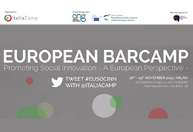 European Barcamp. Promoting social innovation. A European Perspective